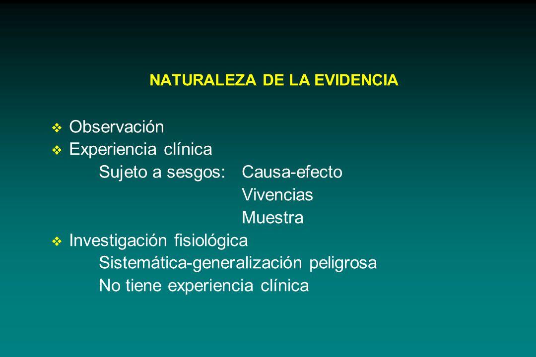 NATURALEZA DE LA EVIDENCIA