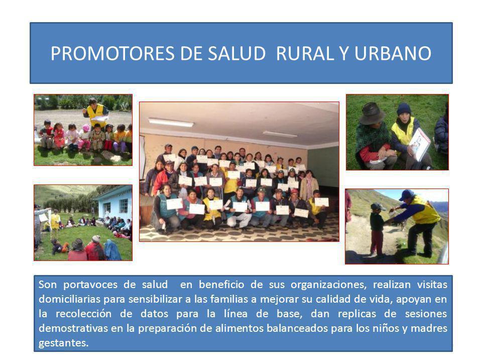 PROMOTORES DE SALUD RURAL Y URBANO