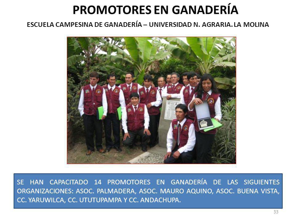 PROMOTORES EN GANADERÍA