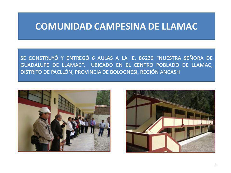 COMUNIDAD CAMPESINA DE LLAMAC