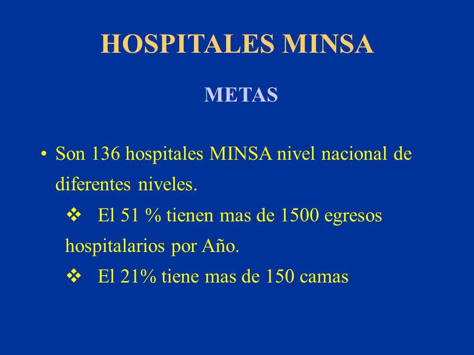 HOSPITALES MINSA METAS