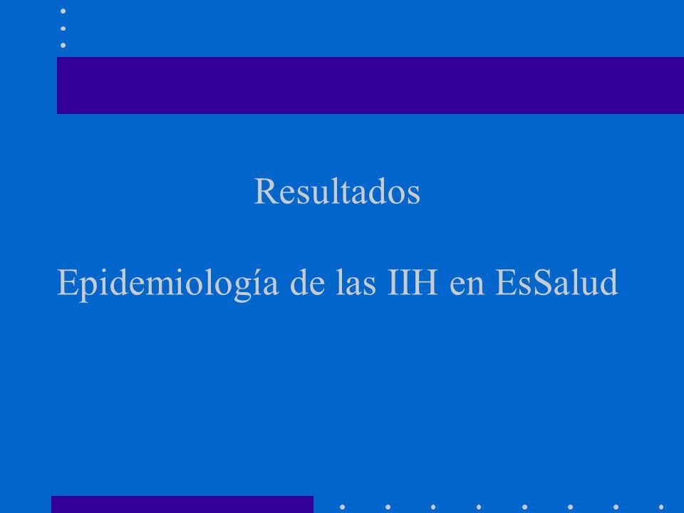 Resultados Epidemiología de las IIH en EsSalud
