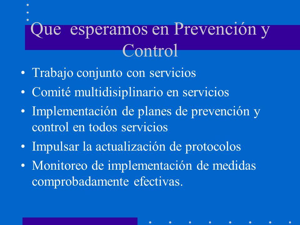 Que esperamos en Prevención y Control