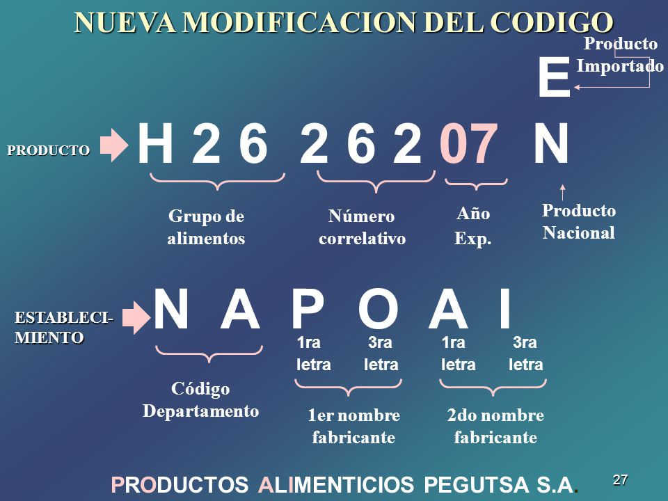 PRODUCTOS ALIMENTICIOS PEGUTSA S.A.