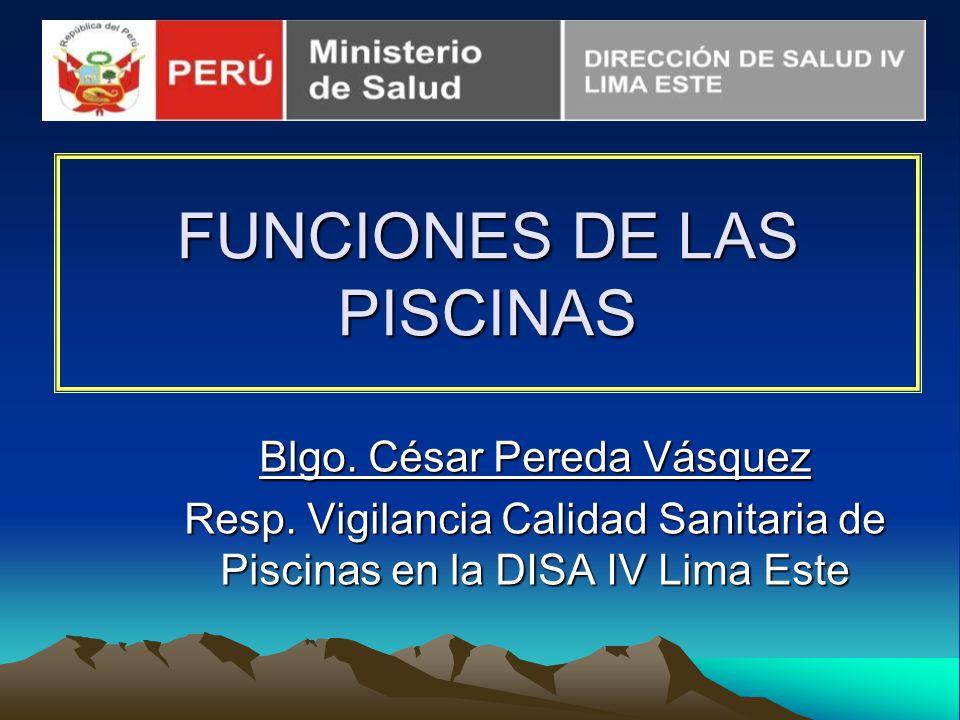 FUNCIONES DE LAS PISCINAS