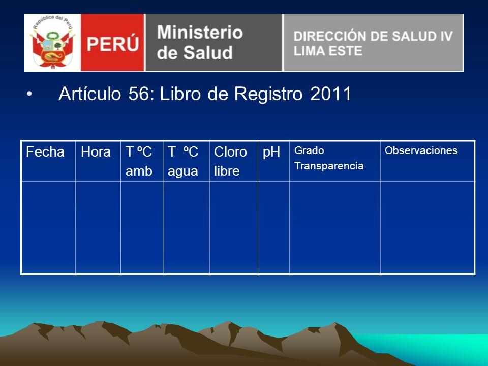 Artículo 56: Libro de Registro 2011