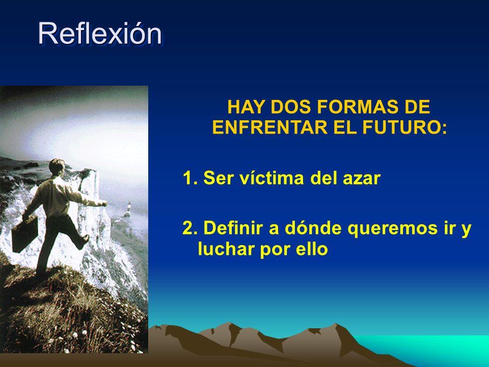 HAY DOS FORMAS DE ENFRENTAR EL FUTURO: