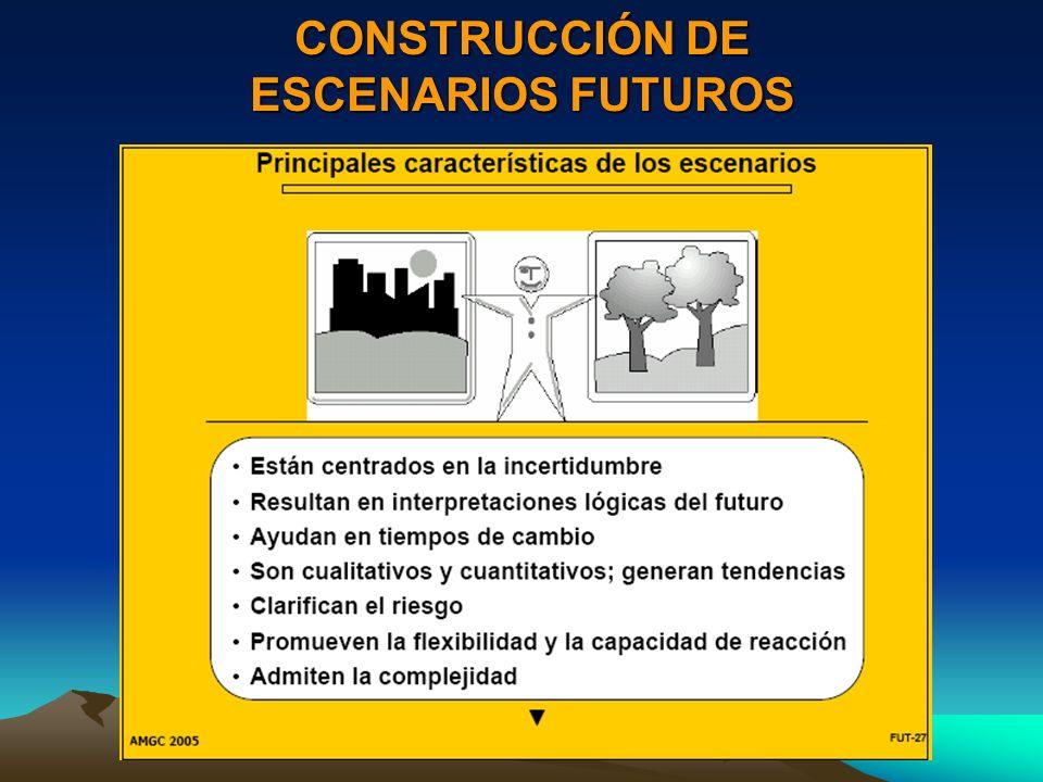 CONSTRUCCIÓN DE ESCENARIOS FUTUROS