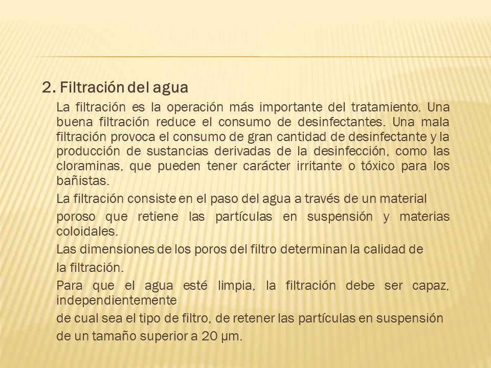 2. Filtración del agua