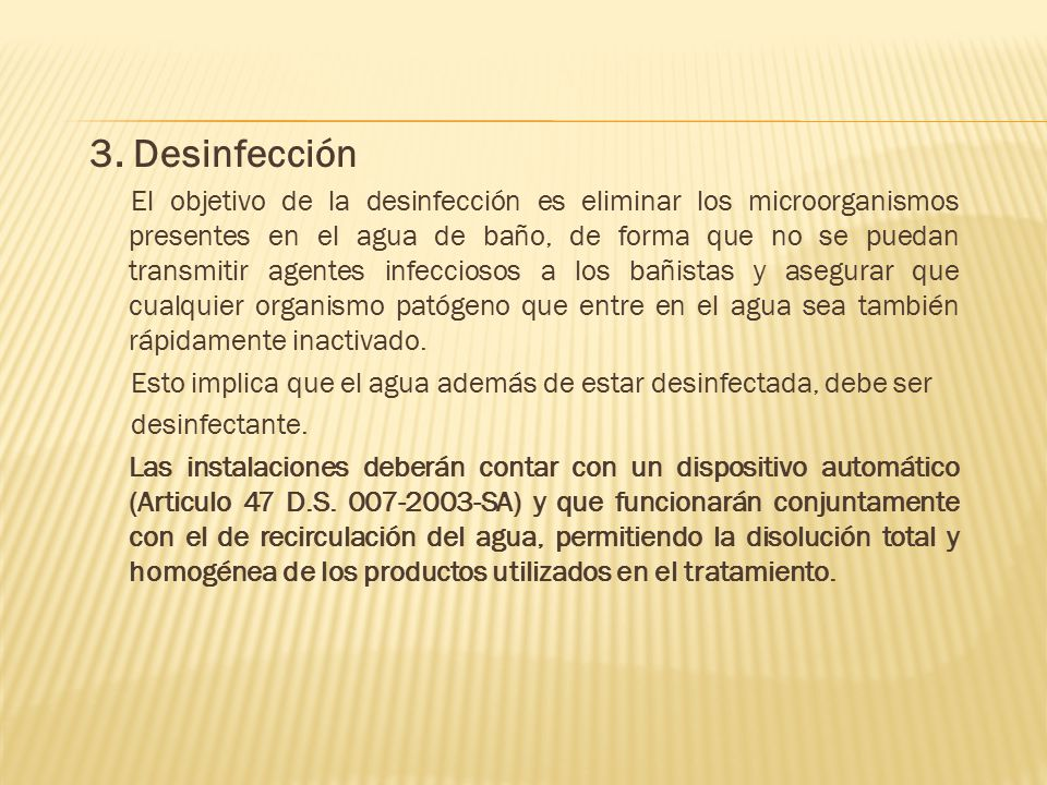 3. Desinfección