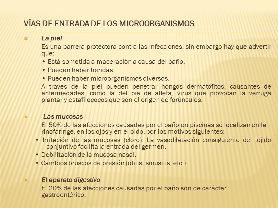 VÍAS DE ENTRADA DE LOS MICROORGANISMOS