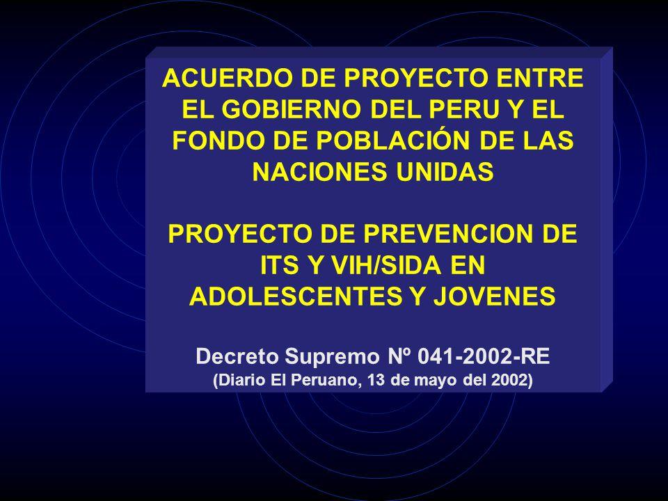 PROYECTO DE PREVENCION DE ITS Y VIH/SIDA EN ADOLESCENTES Y JOVENES