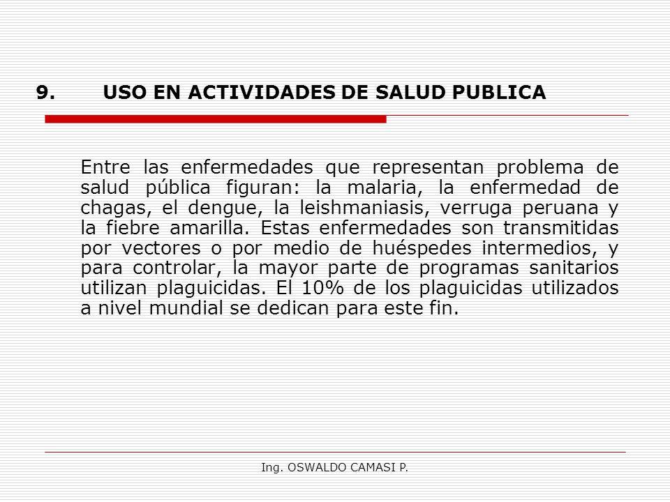 9. USO EN ACTIVIDADES DE SALUD PUBLICA