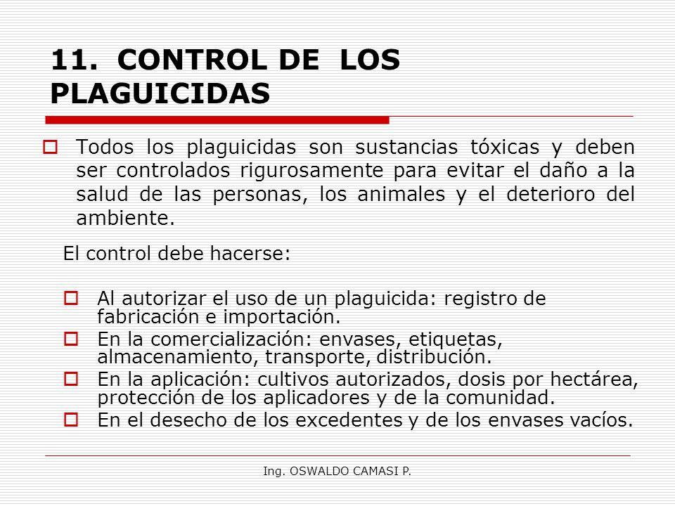 11. CONTROL DE LOS PLAGUICIDAS