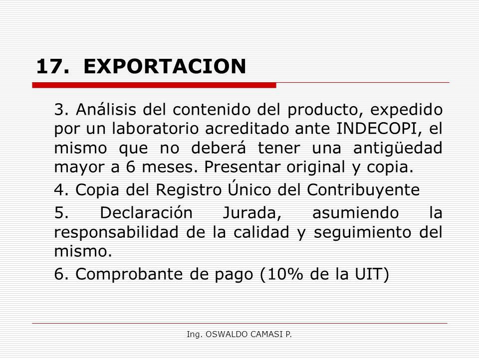 17. EXPORTACION