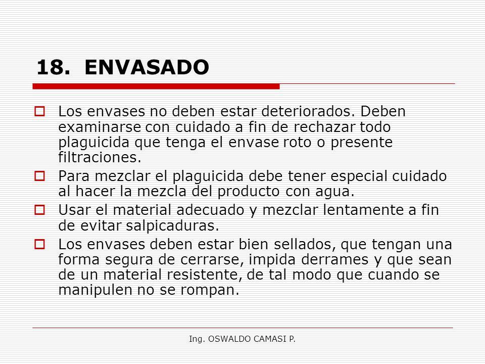 18. ENVASADO