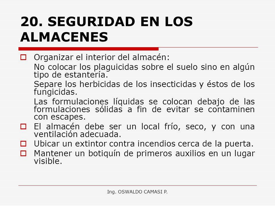 20. SEGURIDAD EN LOS ALMACENES