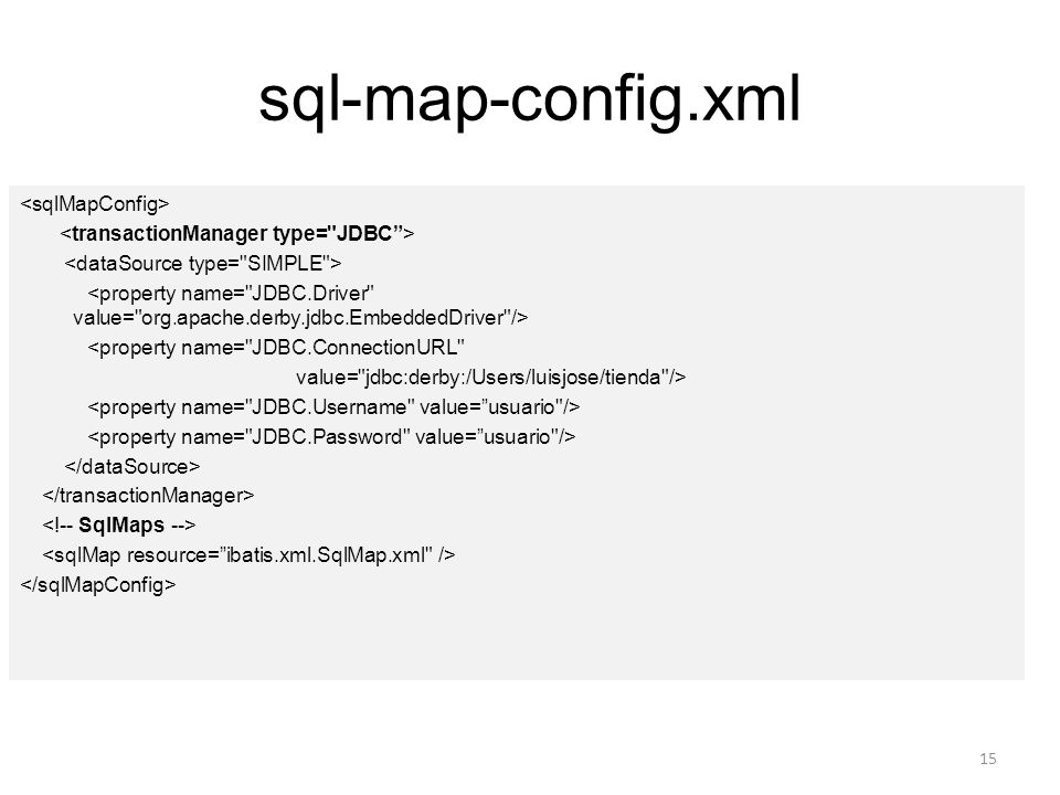 sql-map-config.xml