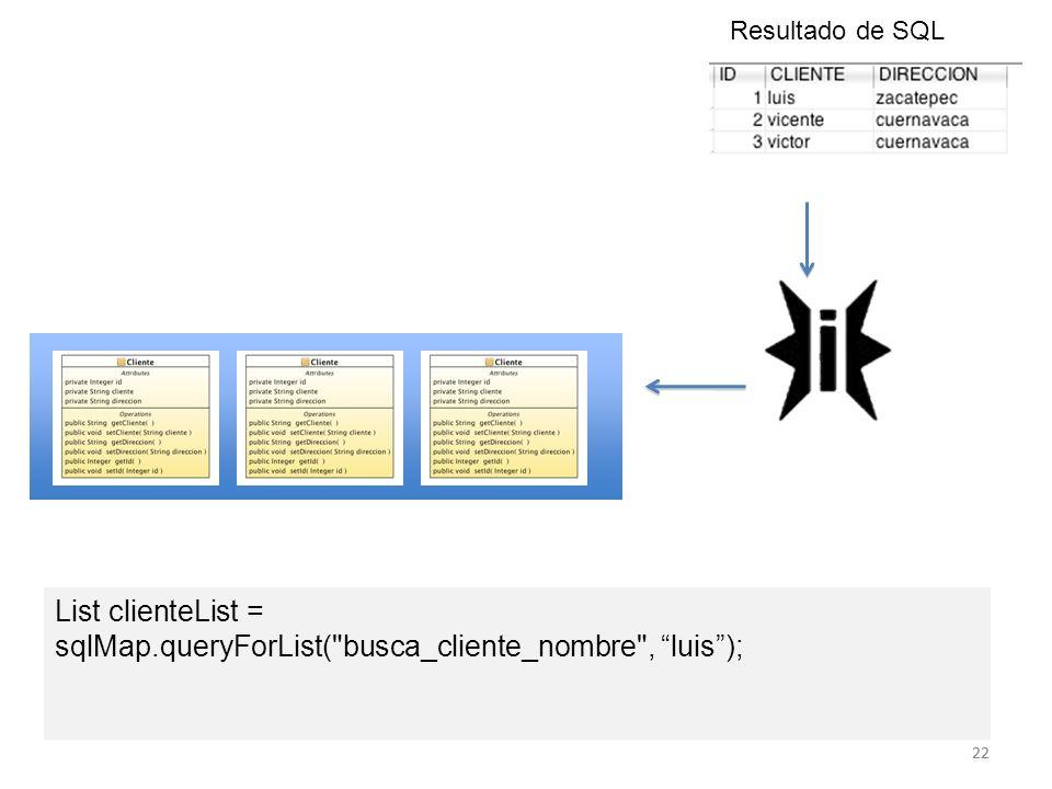 sqlMap.queryForList( busca_cliente_nombre , luis );