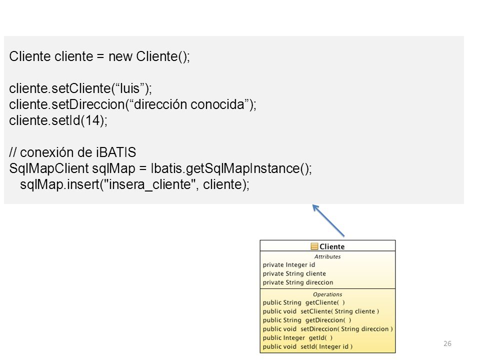 Cliente cliente = new Cliente();