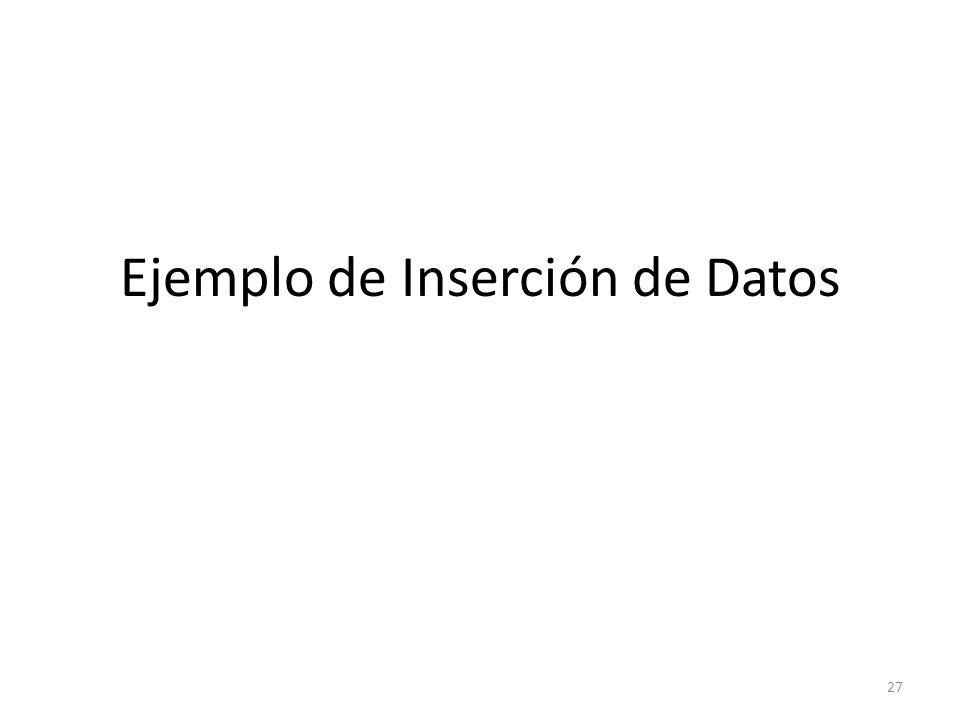 Ejemplo de Inserción de Datos