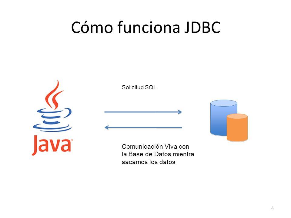 Cómo funciona JDBC Comunicación Viva con la Base de Datos mientra