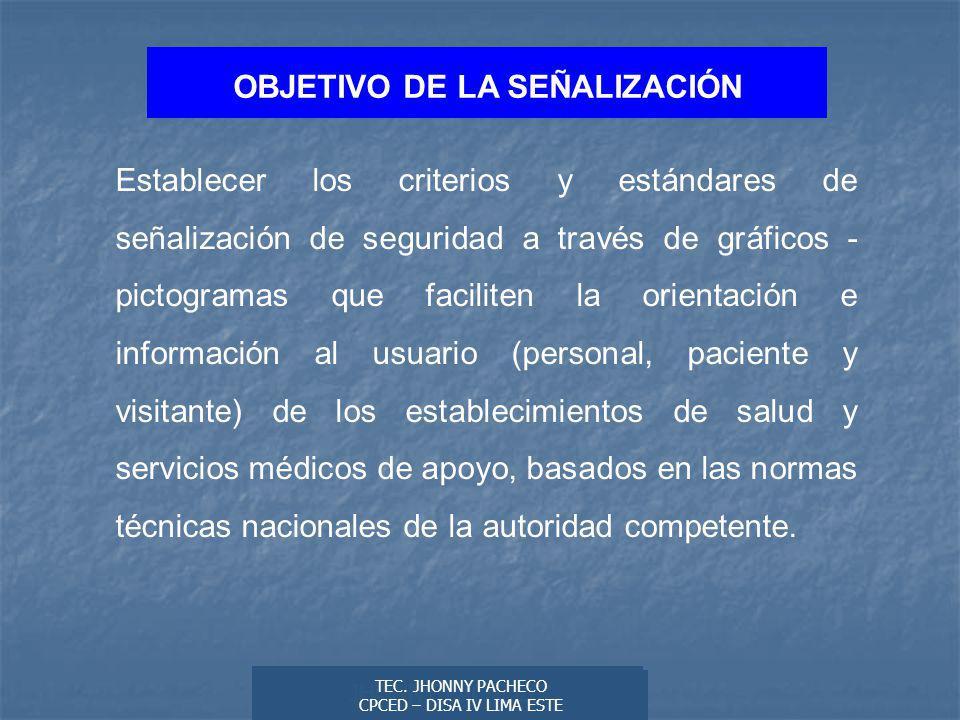 OBJETIVO DE LA SEÑALIZACIÓN