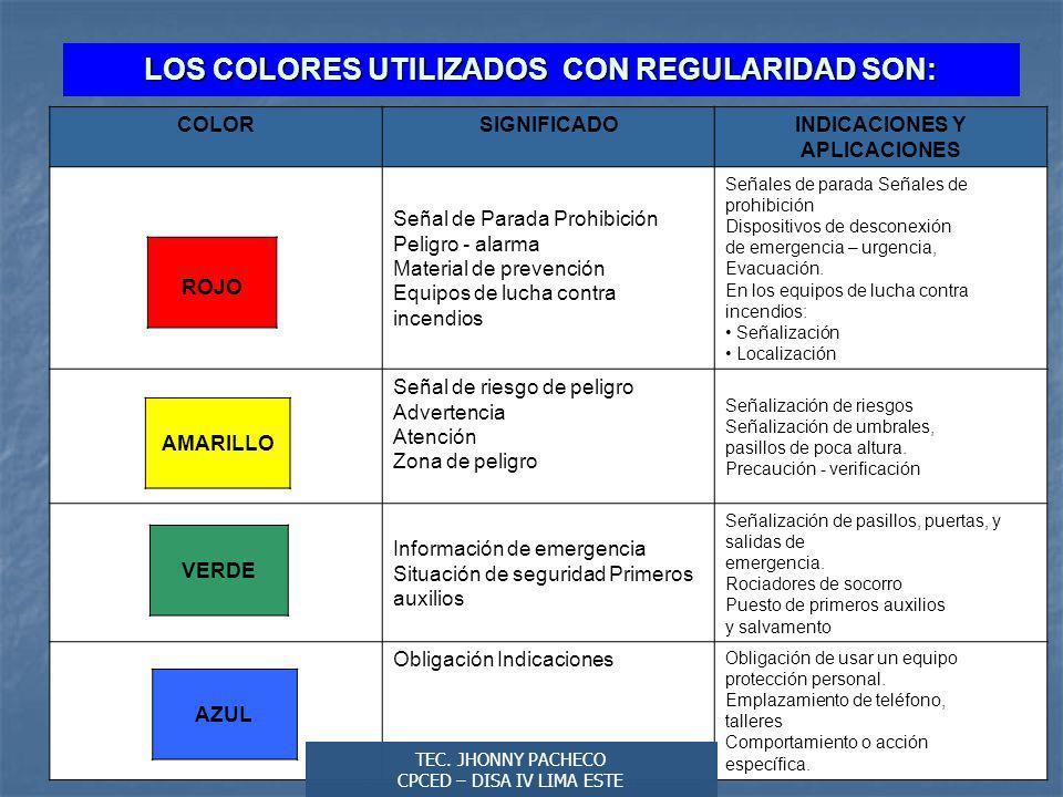 LOS COLORES UTILIZADOS CON REGULARIDAD SON: