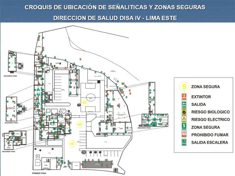 CROQUIS DE UBICACIÓN DE SEÑALITICAS Y ZONAS SEGURAS