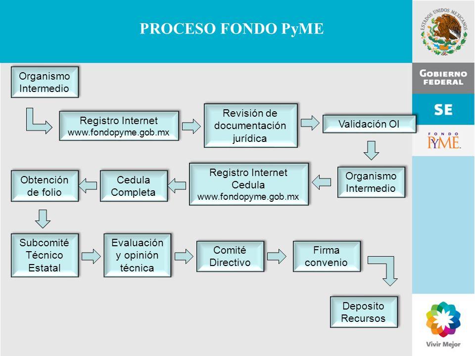 PROCESO FONDO PyME Organismo Intermedio