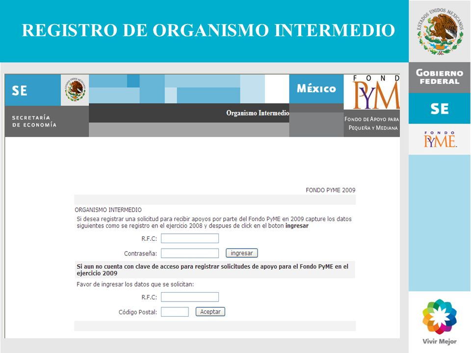 REGISTRO DE ORGANISMO INTERMEDIO