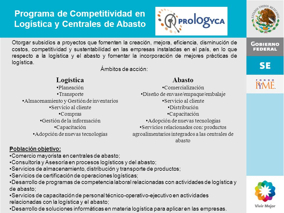 Programa de Competitividad en Logística y Centrales de Abasto