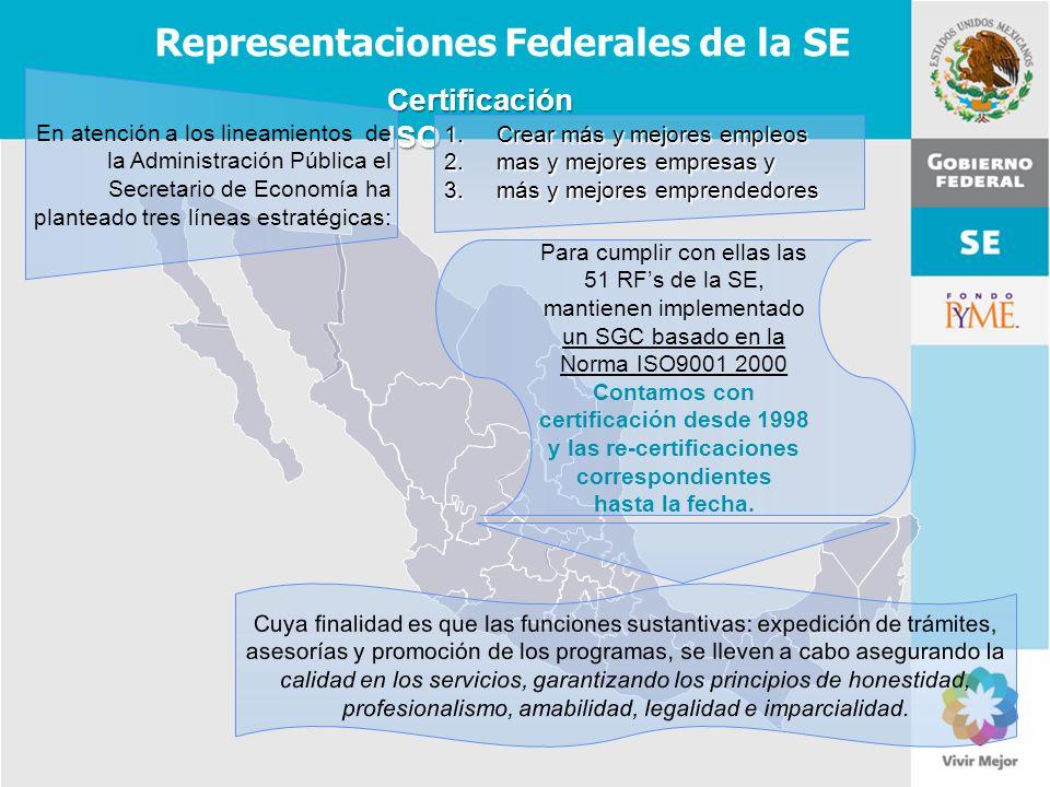 Representaciones Federales de la SE
