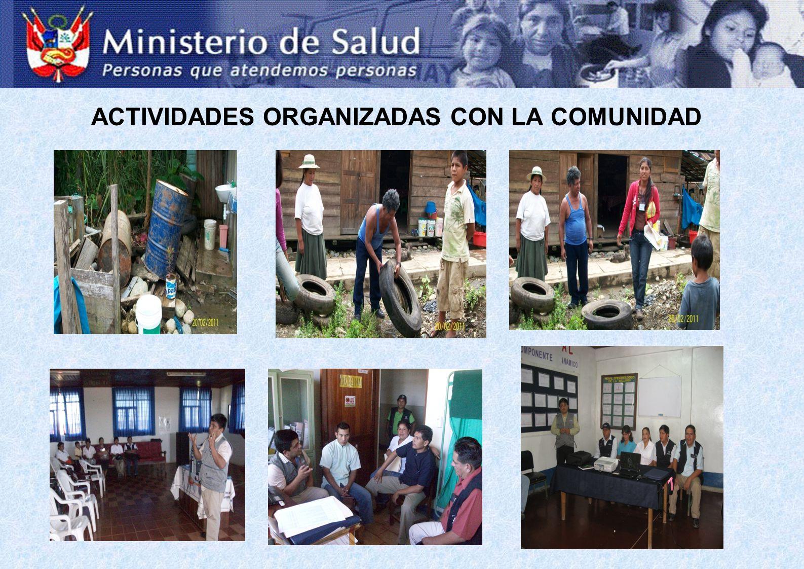 ACTIVIDADES ORGANIZADAS CON LA COMUNIDAD