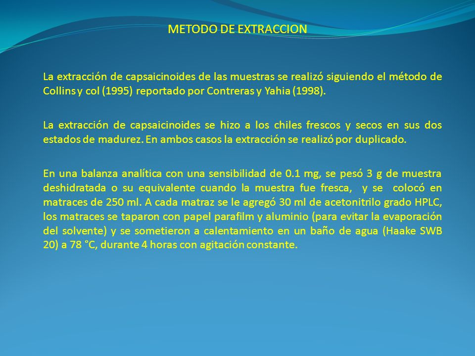 METODO DE EXTRACCION