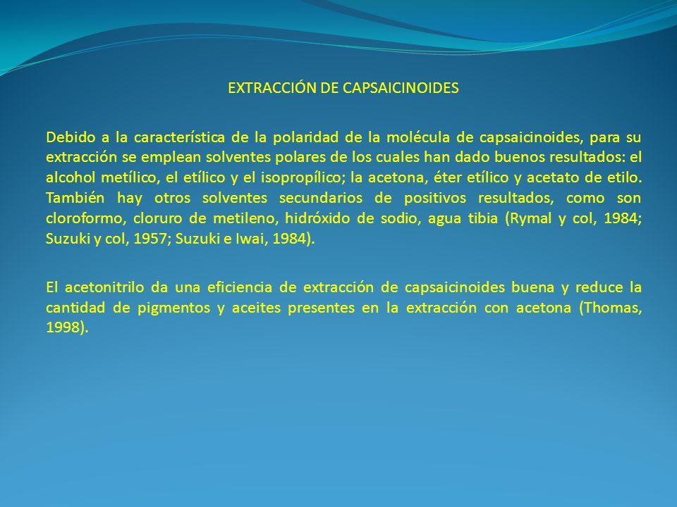 EXTRACCIÓN DE CAPSAICINOIDES