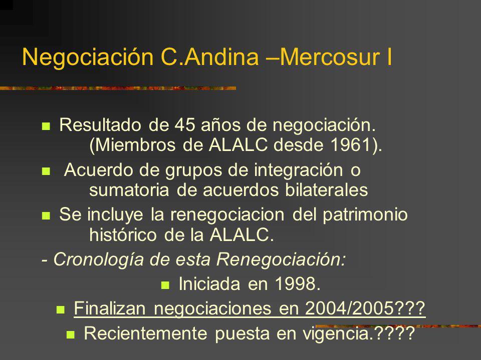 Negociación C.Andina –Mercosur I