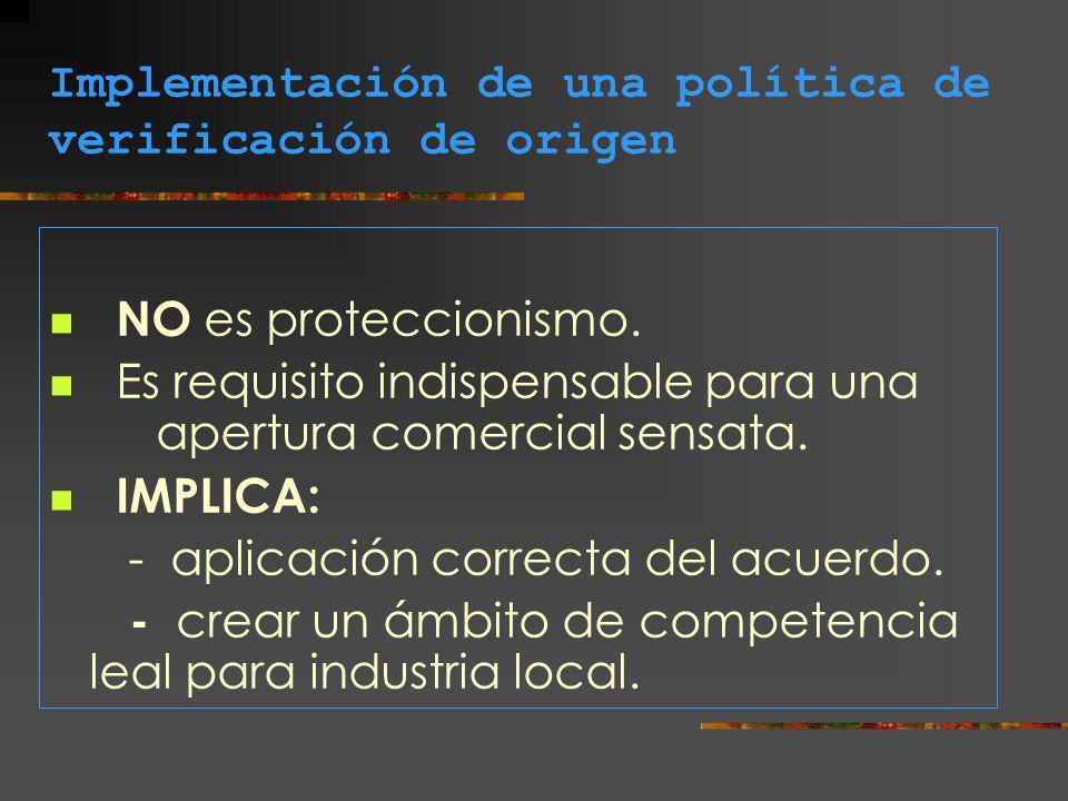 Implementación de una política de verificación de origen