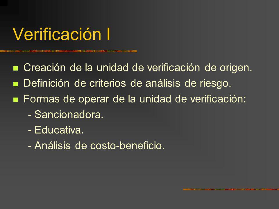 Verificación I Creación de la unidad de verificación de origen.