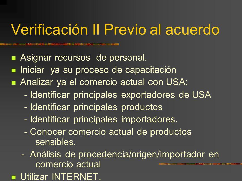 Verificación II Previo al acuerdo