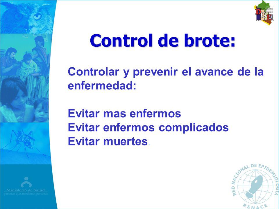 Control de brote: Controlar y prevenir el avance de la enfermedad: