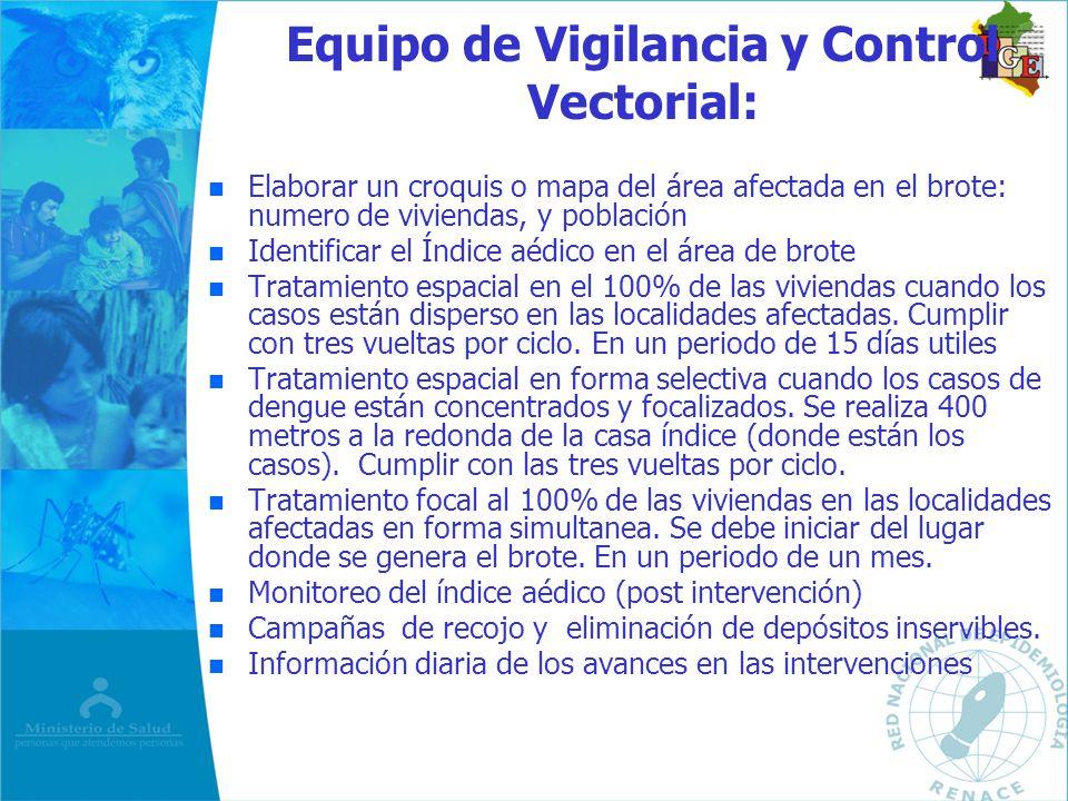Equipo de Vigilancia y Control Vectorial: