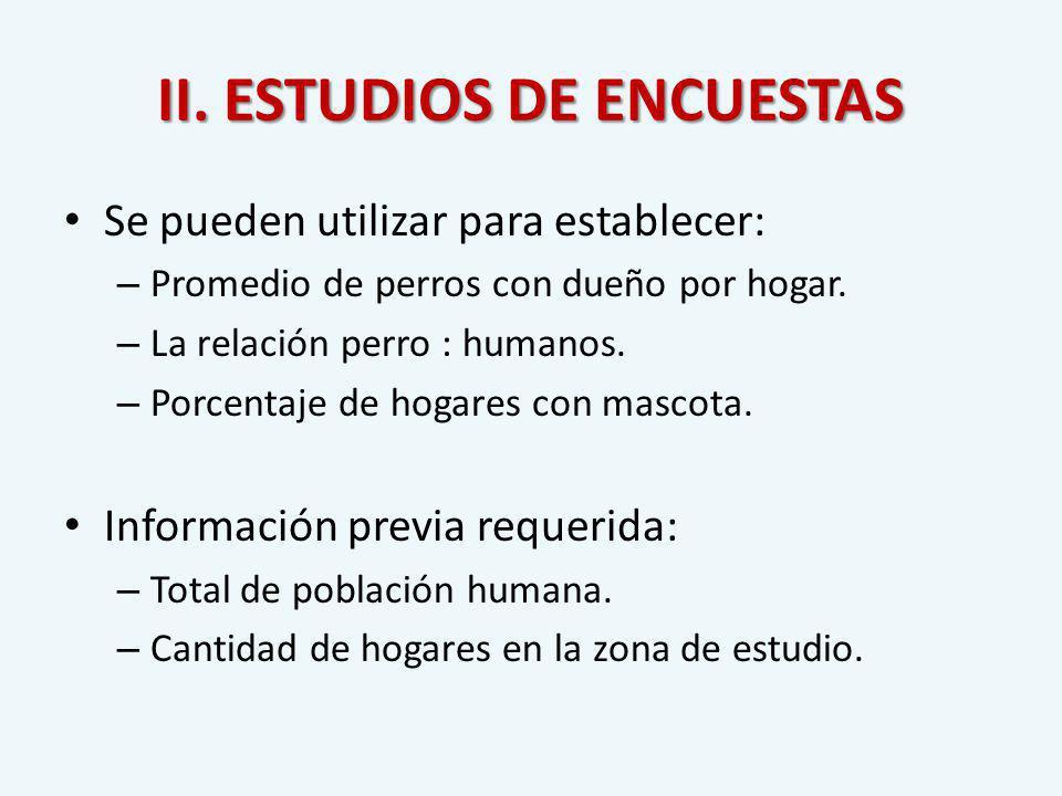II. ESTUDIOS DE ENCUESTAS