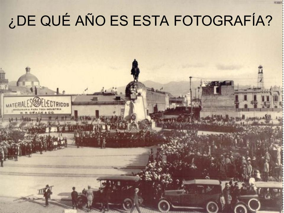 ¿DE QUÉ AÑO ES ESTA FOTOGRAFÍA