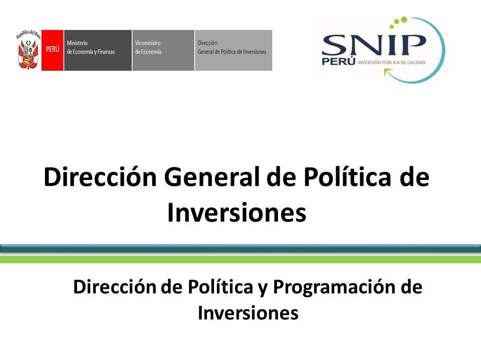 Dirección General de Política de Inversiones