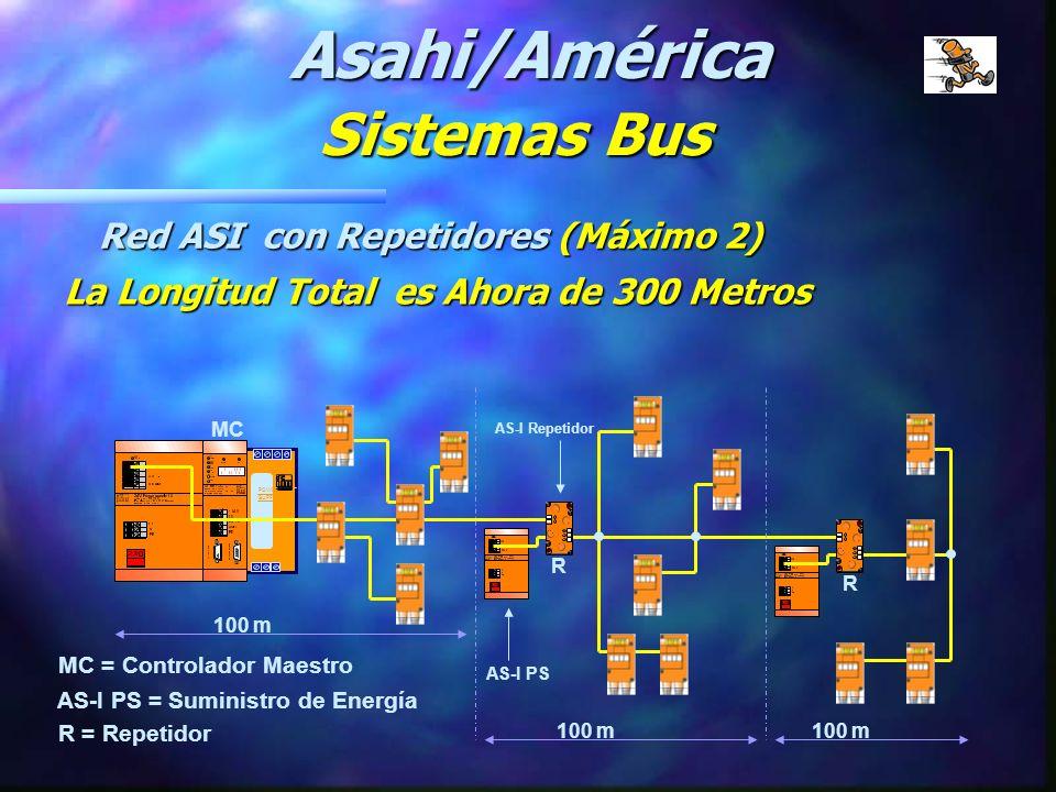 Asahi/América Sistemas Bus Red ASI con Repetidores (Máximo 2)