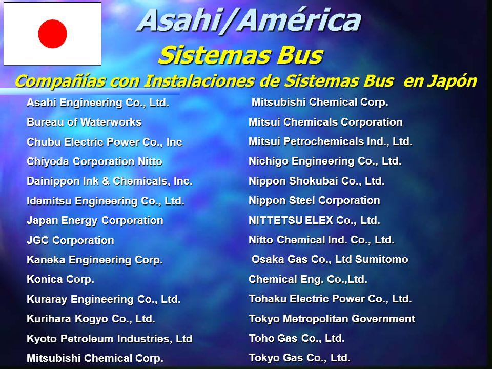 Compañías con Instalaciones de Sistemas Bus en Japón