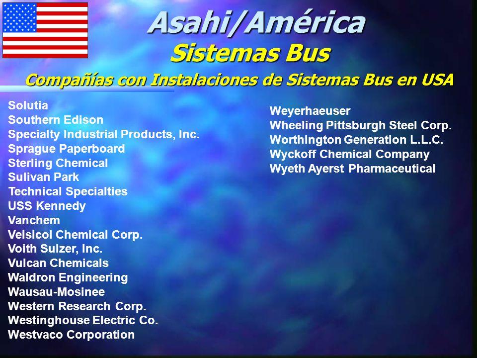 Compañías con Instalaciones de Sistemas Bus en USA