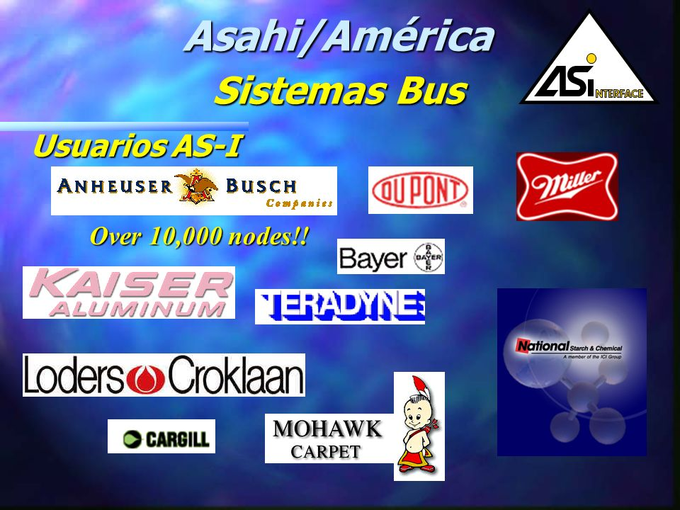 Asahi/América Sistemas Bus Usuarios AS-I Over 10,000 nodes!!
