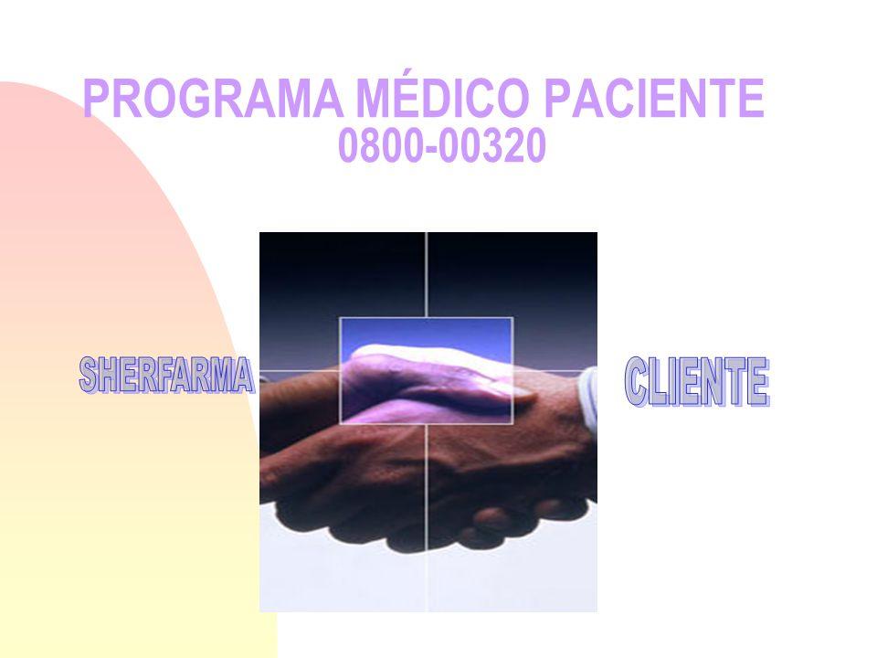 PROGRAMA MÉDICO PACIENTE 0800-00320